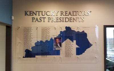 Presidents Wall for Kentucky Association of Realtors