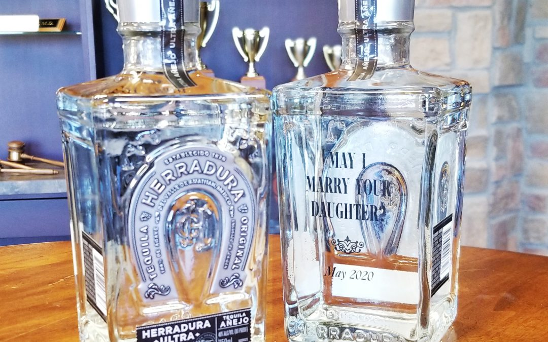 Wedding Proposal Idea: Custom Engraved Tequila Bottle