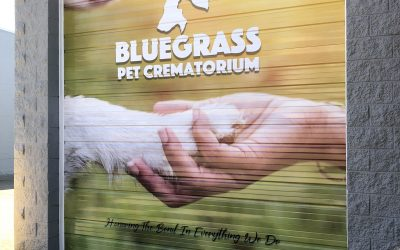 Garage Door Wrap for Bluegrass Pet Crematorium