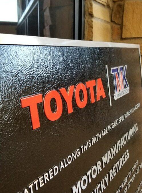 Retiree Path Signage for Toyota Retiree Pathway